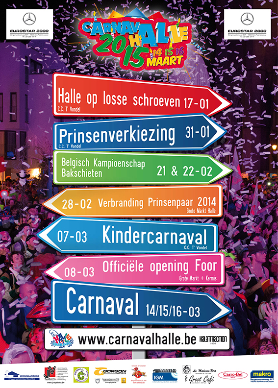 Programma affiche Carnaval Halle 2015